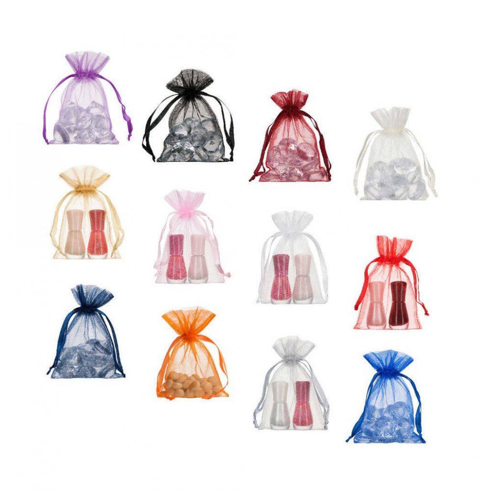 Pequenos sacos de organza 10x15cm coros diferentes