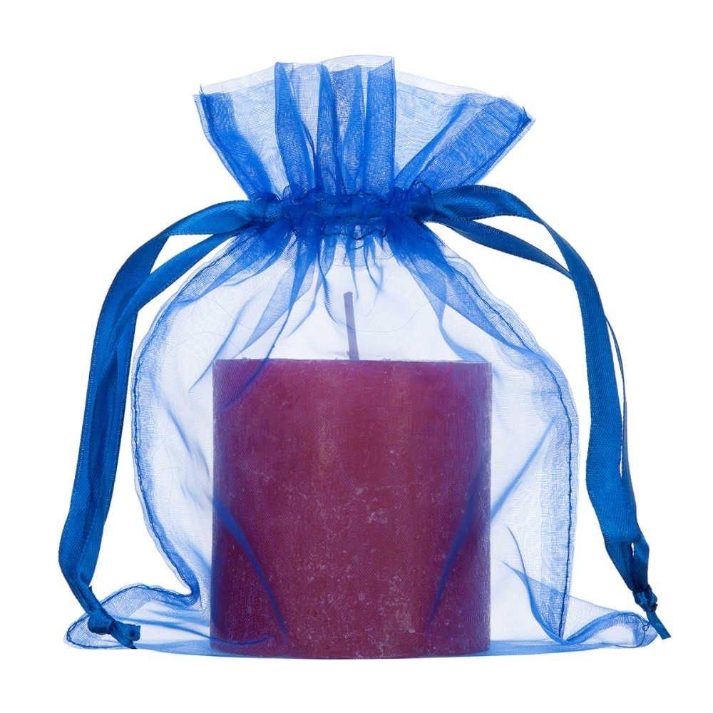 Sacos Médios de organza 15x20cm blue