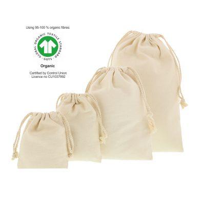 Sacos de algodão ecológicos