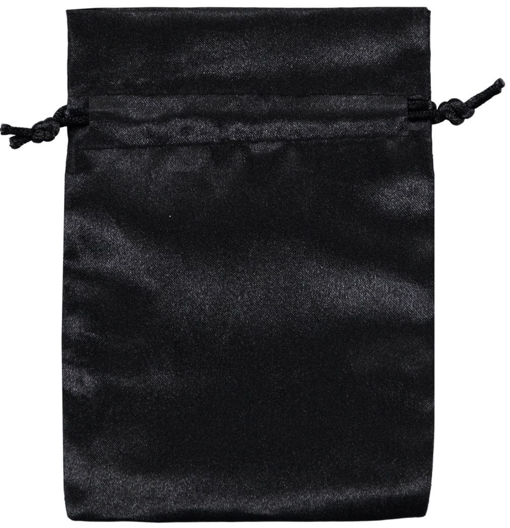 bolsas de cetim 10 x15cm preto (2