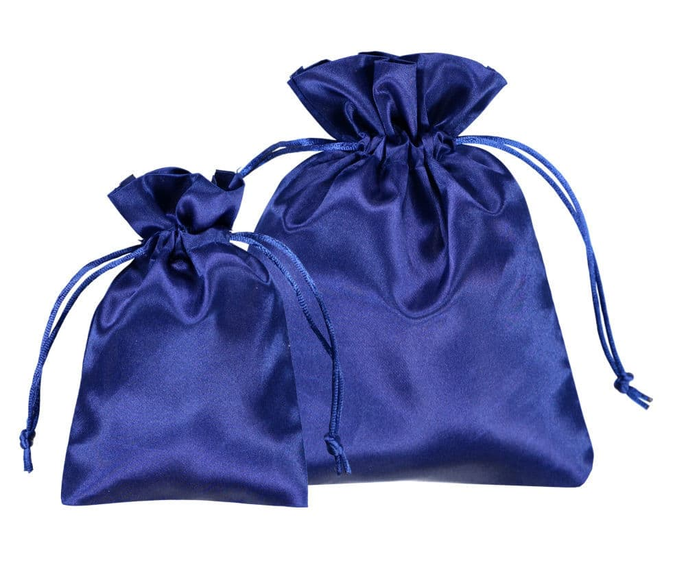 bolsas de cetim azul