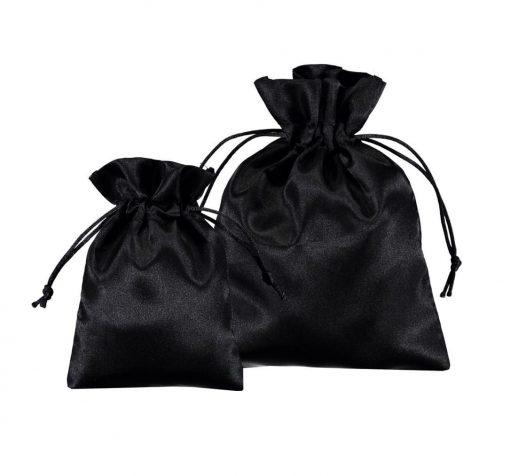bolsas de cetim preto