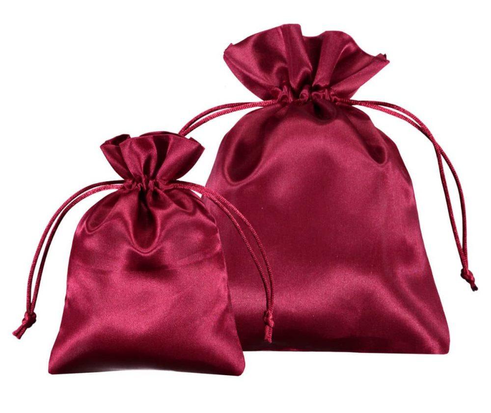 bolsas de cetim vermehlo