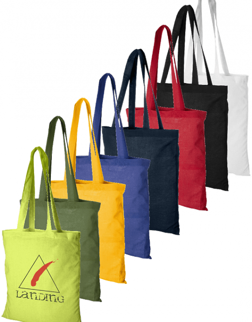 sacolas de algodão colorido