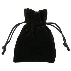 Bolsa de veludo para joias preto 7,5x10cm 2.0