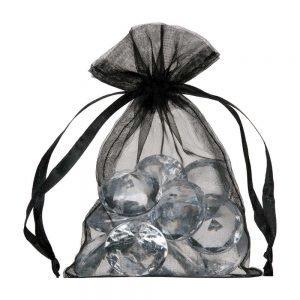 Pequenos sacos de organza 10x15cm preto