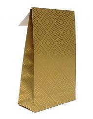 50 peça Presente Sacos de papel de Ouro Tiles com fita adesiva e a parte inferior do bloco 10x15,7x4 of 14x23x5,5cm
