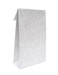 50 peça Sacos do Presente de papel Cobra com fita adesiva e a parte inferior do bloco 10x15,7x4 of 14x23x5,5cm
