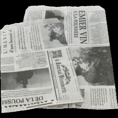 1000 pedaços de Jornal Francês de Sacos de Papel
