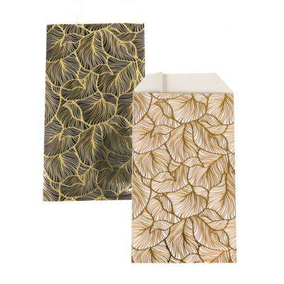 150 peças Sacos de Papel Folhas Douradas Escolha sua Cor e Tamanho
