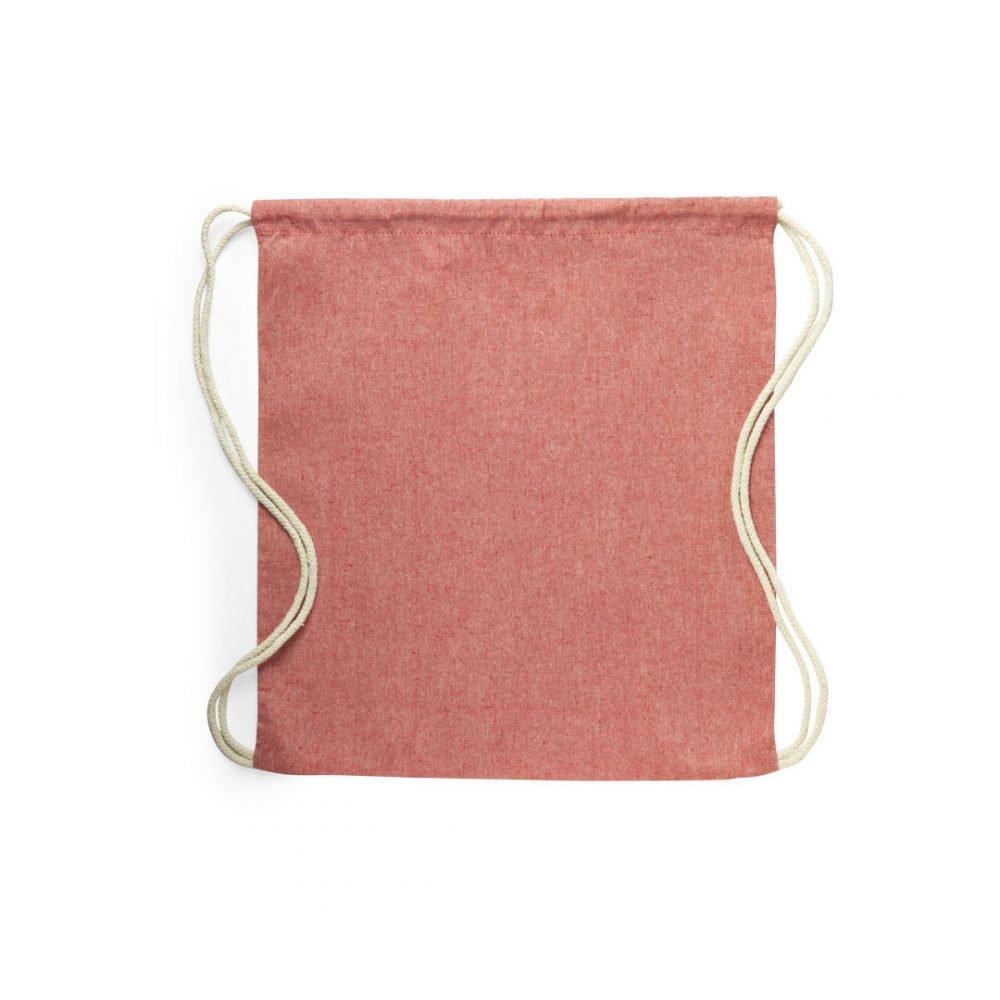 50 peças Mochilas 100% Algodão Reciclado em 4 cores vermelho (2)